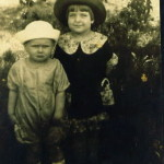 Big Sis and Little Brother (Phyllis Marjorie and Frank Ulric Jr Roquemore), Shreveport LA, 1920