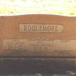 Dual headstone for Riley Smythe Roquemore (1899-1990) and Katherine Grace Varnado (1902-1979), Forest Park Cemetery, Shreveport LA, 9/22/02