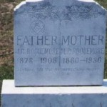 Dual headstone for John Clarence (1876-1908) and Minnie Pearl Crenshaw (1880-1930) Roquemore