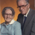 John Carlton and Fannie Bertha Roquemore, parents of Pearl Lenore Roquemore Barfield; circa mid-1970s