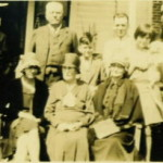 Minnie Ann Durrett Roquemore (seated, center) with various relatives, Lufkin TX, circa 1930-1931