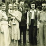 4 Roquemore generations: Minnie Ann Roquemore, Vivian (holding grandchild, David Goebel Jr) Frank Roquemore, Eleanor Roquemore, David Goebel Sr, 1942