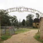 Odd Fellows Cemetery Entrance, Panola County, Carthage TX, 10/22/01
