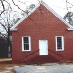 Union Primitive Baptist Church building, Russell County, Dixie AL. Established 1851 with Vincent Peter&Esther Jane Roquemore among the charter members