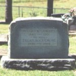 Dual headstone for George W. Langley (1845-1901) and Zillah Roquemore (1846-1884), Youngblood Cemetery, Panola County TX, 9/21/02