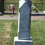 Headstone for John Jacob Roquemore (1827-1872), Youngblood Cemetery, Panola County TX, 9/21/02